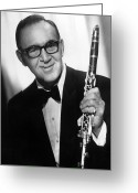 Big Band Greeting Cards - Benny Goodman (1909-1986) Greeting Card by Granger