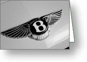 Transportation Greeting Cards - Bentley Greeting Card by Kurt Golgart
