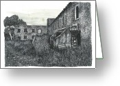 Forgotten Drawings Greeting Cards - Berber Paper Mill Greeting Card by Jonathan Baldock