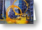 Streets Greeting Cards - Berfore These Crowded Streets Greeting Card by Joshua Morton