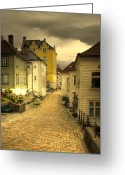 Clapboard Houses Greeting Cards - Bergen Street Greeting Card by Alan Pickersgill