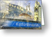 Kaiser Greeting Cards - Berlin Composing Greeting Card by Melanie Viola