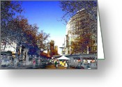 Digitally Processed Digital Art Greeting Cards - Berlin Kurfuerstendamm Greeting Card by Navo Art