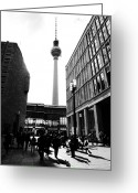 Berlin Pyrography Greeting Cards - Berlin street photography Greeting Card by Falko Follert