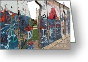 Westminster College Greeting Cards - Berlin Wall section at Westminster College Greeting Card by David Bearden