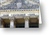 Cities Art Greeting Cards - Berliner Reichstag Greeting Card by Shyish!