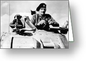 United Kingdom Greeting Cards - Bernard Law Montgomery Greeting Card by War Is Hell Store