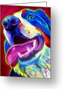 Dawgart Greeting Cards - Bernese - Sunshine Greeting Card by Alicia VanNoy Call