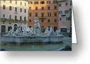 Latium Region Greeting Cards - Berninis Fountain Of The Four Rivers Greeting Card by Taylor S. Kennedy