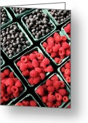 Conformity Greeting Cards - Berry Baskets Greeting Card by Denise Taylor