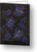 Fairies Greeting Cards - Berry Blues Greeting Card by Dawn Fairies
