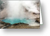 Fumarole Greeting Cards - Beryl Hot Spring Greeting Card by Charline Xia