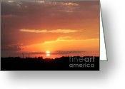 Gloaming Greeting Cards - Besetting Sun Greeting Card by Elizabeth Hernandez