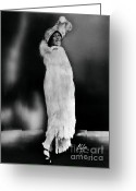 African American Artist Photo Greeting Cards - Bessie Smith, African-american Blues Greeting Card by Omikron