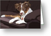 Couch Greeting Cards - Best Boy Greeting Card by Kris Hackleman