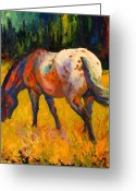 Mustang Greeting Cards - Best End Of An Appy Greeting Card by Marion Rose