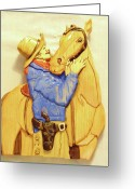 Horse Sculpture Greeting Cards - Best Friends Greeting Card by Russell Ellingsworth