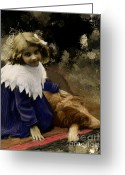 Blonde Girl Greeting Cards - Best of Friends Greeting Card by Arne Hansen