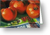 Food Art Painting Greeting Cards - Best Value Greeting Card by Pat Burns