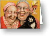 Best Friends Greeting Cards - Bestest Friends Greeting Card by Shelly Wilkerson