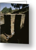 African Heritage Photo Greeting Cards - Bet Medhane Alem is the Greeting Card by James P. Blair