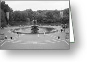 Central Park Photo Greeting Cards - Bethesda Fountain Central Park New York Greeting Card by Christopher Kirby