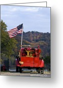 Indiana Autumn Greeting Cards - Bethlehem Fire Truck - D008199 Greeting Card by Daniel Dempster