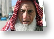 Sheikh Greeting Cards - Bethlehem Sheikh Greeting Card by Munir Alawi