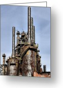 Dj Florek Greeting Cards - Bethlehem Steel Blast Furnaces Greeting Card by DJ Florek
