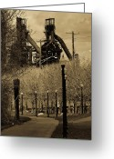 "\""steel Mill\\\"" Greeting Cards - Bethlehem Steel Mill Greeting Card by Luis Lugo"