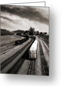 "\""steel Mill\\\"" Greeting Cards - Bethlehem Stolen Greeting Card by Mark Montana"