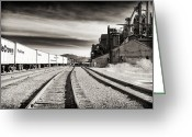 "\""steel Mill\\\"" Greeting Cards - Bethlehem Tracks Greeting Card by John Rizzuto"