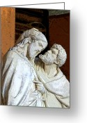 Good Friday Digital Art Greeting Cards - Betrayed by a Kiss Greeting Card by Mindy Newman