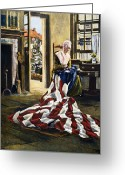 Betsy Ross Greeting Cards - Betsy Ross (1752-1836) Greeting Card by Granger