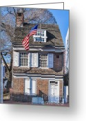 Betsy Ross Greeting Cards - Betsy Ross House Greeting Card by John Greim