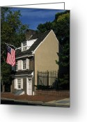 Betsy Ross Greeting Cards - Betsy Ross House Greeting Card by Sally Weigand
