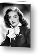 All Star Photo Greeting Cards - Bette Davis (1908-1989) Greeting Card by Granger