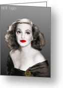 Tragedy Greeting Cards - Bette Davis Greeting Card by Joaquin Abella Ojeda