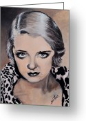 Award Greeting Cards - Bette Davis Greeting Card by Shirl Theis
