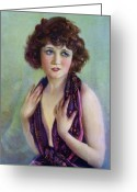 Betty Greeting Cards - Betty Compson 1920 Greeting Card by Stefan Kuhn