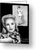 Grable Greeting Cards - Betty Grable Greeting Card by Peter Piatt