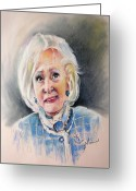 Betty Greeting Cards - Betty White in Boston Legal Greeting Card by Miki De Goodaboom