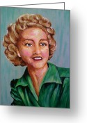 Paula Shaughnessy Greeting Cards - Bettys Auntie Greeting Card by Paula Shaughnessy