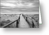 Beach Grass Greeting Cards - Between Heaven And Earth Greeting Card by Fotografiado por Lusansor