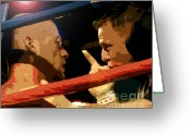 Coaching Greeting Cards - Between Rounds Greeting Card by David Lee Thompson