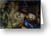 Albert Einstein Greeting Cards - Between The Lens  Greeting Card by Jerry Cordeiro