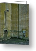 Ellicott Greeting Cards - Between the Silos Greeting Card by Murray Bloom