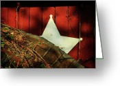 Star Barn Greeting Cards - Between Two Worlds Greeting Card by Rebecca Sherman