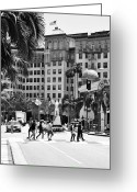 Wilshire Blvd. Greeting Cards - Beverly Wilshire Greeting Card by Ricky Barnard
