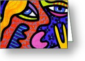 Abstract Bright Color Greeting Cards - Bevs Beauty Bar Greeting Card by Steven Scott